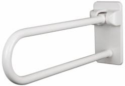 Agafador abatible amb placa posterior 70 blanc