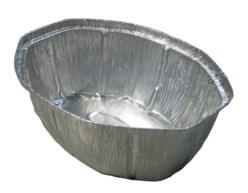 Bandeja aluminio ovalada para pollo