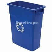 Contenidor Slim Jim 60L BLAU amb símbol reciclatge