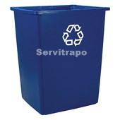 Contenedor cuadrado Reciclaje 132,5l color azul
