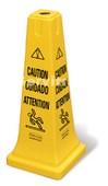 """Cono de seguridad Multilingüe símbolo """"Cuidado"""""""