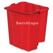Cubo 17 L Agua sucia. Rojo