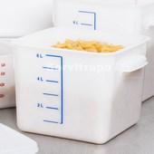 Recipente alimentos cuadrado para ahorro espacio 5,7l