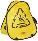 Señal seguridad plegable con símbolo de suelo mojado