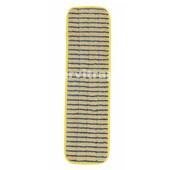 Mopa de estropajo de microfibra, 40 cm - Amarilla con bandas azules