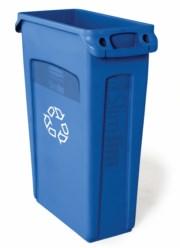 Papelera Slim Jim® reciclaje con canales de ventilación 87L