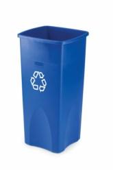 Papelera cuadrada Untouchable® reciclaje 87L