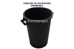 CUBO RECICLAJE BIN 75L ENGOMADO IRROMPIBLE SIN TAPA