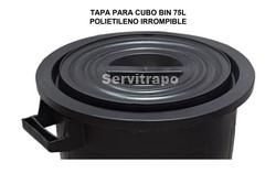 TAPA PARA CUBO BIN 75L ENGOMADO IRROMPIBLE