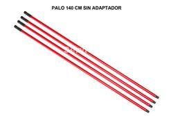 PALO ROJO 1,40 CM ECO SIN ADAPTADOR (METALICO FORRADO)