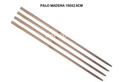 PALO MADERA 150X2.8CM (ESPECIAL ESCOBA INDUSTRIAL 60CM)