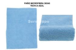 PAÑO MICROFIBRA MULTIUSOS TECK-A PACK 12 AZUL 300GR (TERRY)