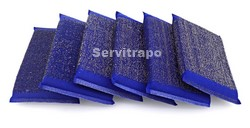 ESTROPAJO DE ESPONJA Y ACERO INOX AZUL CAJAS 12 PACKS - PACK 6 UDS