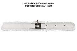 SET BASTIDOR + RECAMBIO MOPA MICROFIBRA 145 CM POP PROFESIONAL
