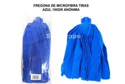 FREGONA MICROFIBRA TIRAS AZUL 180GR