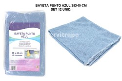 BAIETA PUNT BLAU 35X40CM SET 12 UNIT.
