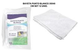 BAYETA PUNTO BLANCA 35X40CM SET 12 UNID.