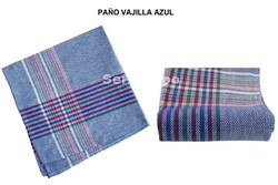 PAÑO VAJILLA ALGODÓN AZUL PACK-12