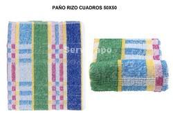 PAÑO RIZO CUADROS PACK-12