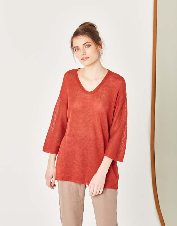 100% Linen Sweater