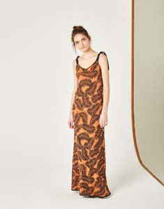 Vestido Largo Jacquard lurex