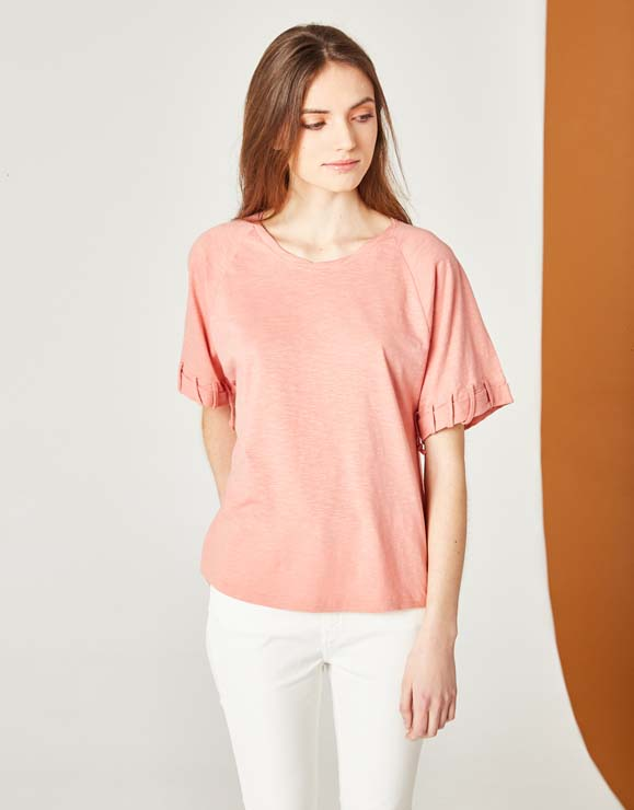 Cotton T-shirt detail sleeves