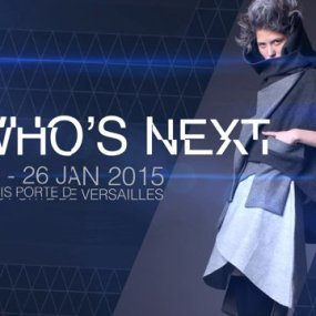 Sita Murt at the Who's Next Fashion fair in Paris