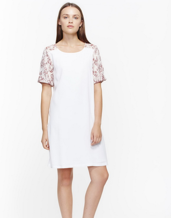 Dress combined with jacquard