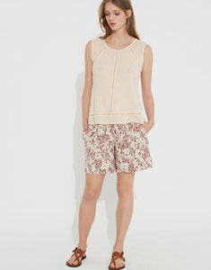 Thin cotton knit top