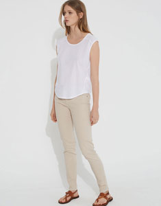 Combined thin knit top
