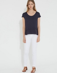 Combined short sleeved T-shirt