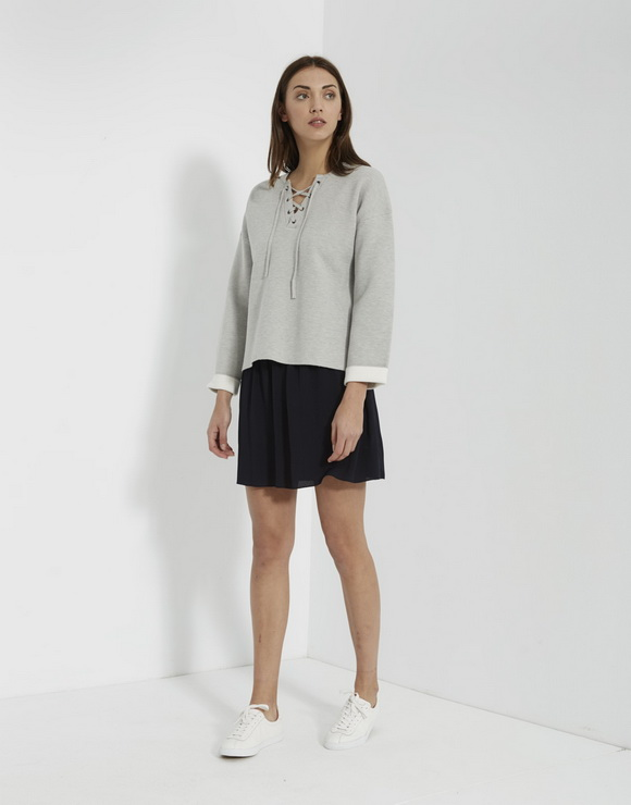 Sweater with cords