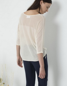 Openwork Sweater With Satin Effect