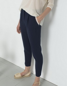 Pants With Darts And Lace