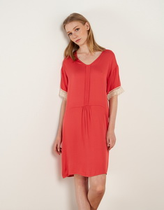 Fluid Short Dress With Laces