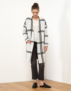 Knit Jacquard Coat