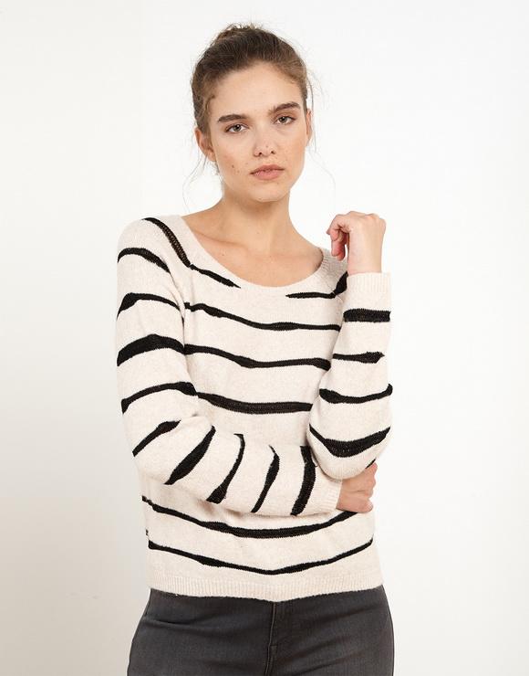 Irregular Stripes Sweater