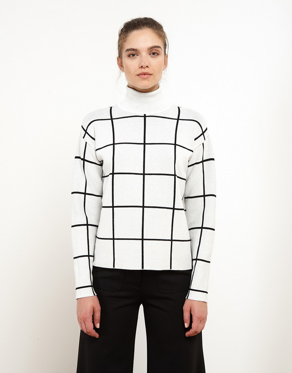 Maxi Check Sweater