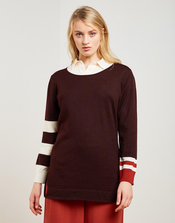 Knit Long Striped Sweater