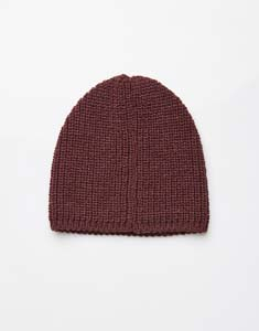 Knitted basic hat