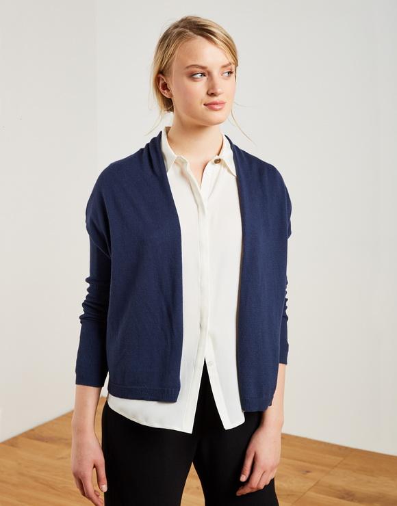 Ribbed sleeves jacket