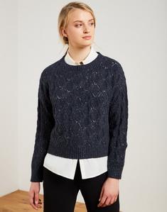 Openwork sweater