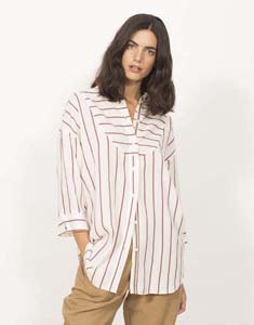 Stripped Tunic with buttons