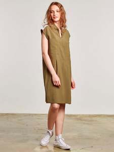 Vestido de viscosa lino