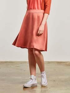 Satin effect skirt