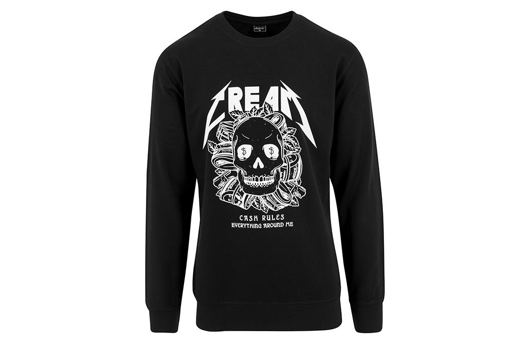 chemise mister tee cream skull crewnck MT380