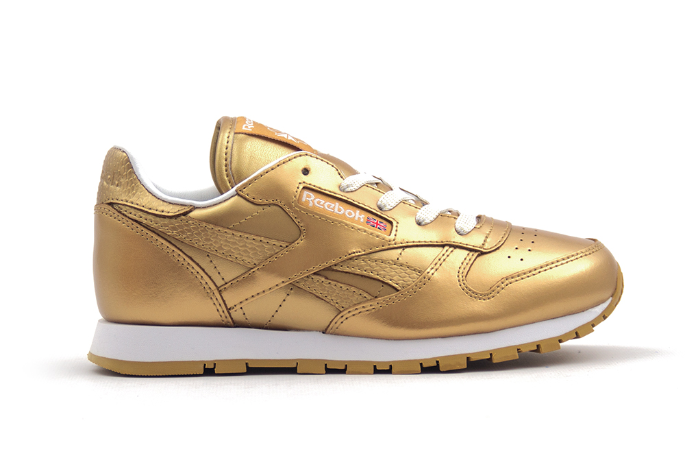 zapatillas reebok classic leather metallic bs7457