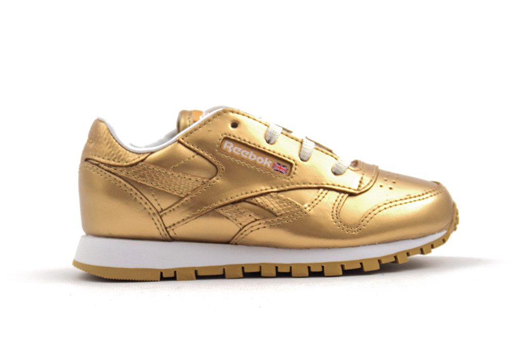 zapatillas reebok classic leather metallic BS7458