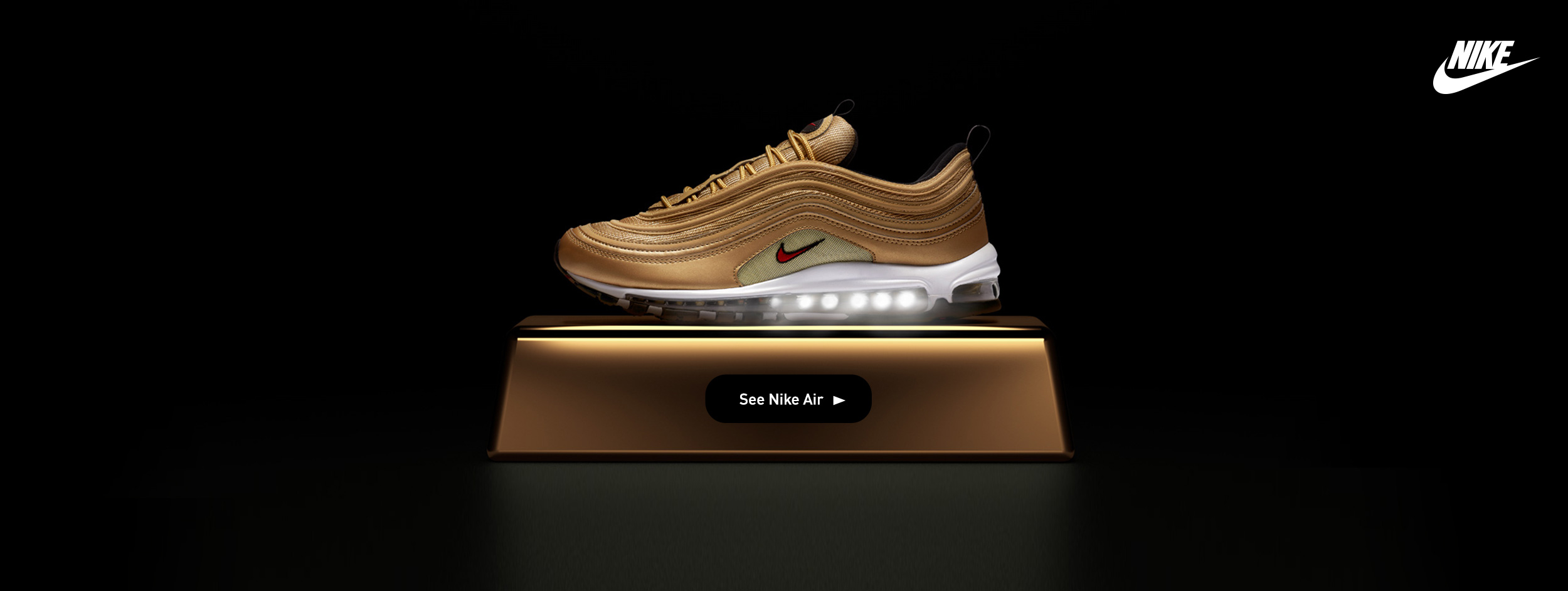 NIKE AIR MAX 97 METALLC GOLD