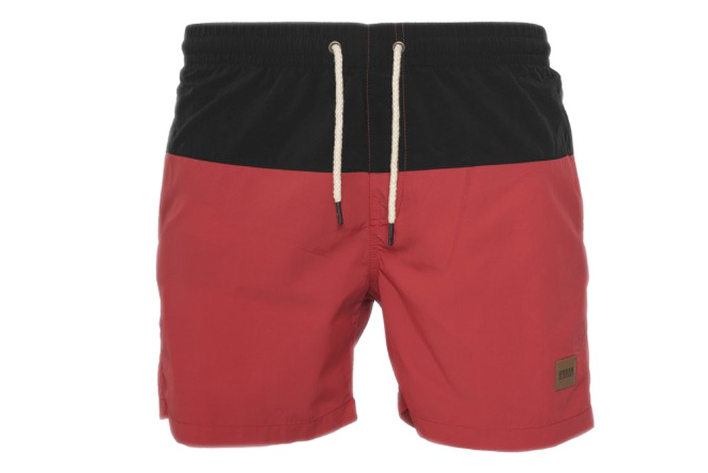 d508e87366 Swimsuit Urban Classic block swim shorts tb1026 black red Brutalzapas